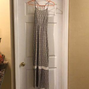Gray and white Maxi Dress